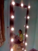 khung gương đèn led dung cho shop